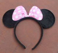 Pale Pink and White Minnie Mouse Ears